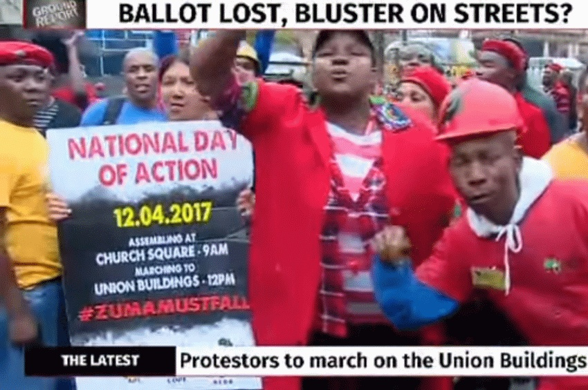 Anti-Zuma March In Pretoria